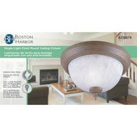Boston Harbor F202CS01-8031MB3L Dimmable Ceiling Light Fixture, Cobblestone, Clear