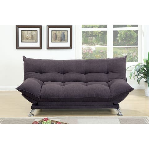 Linen Adjustable Sofa with Flip Up Arm