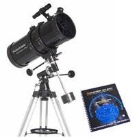 Celestron 21049 PowerSeeker 5.0 Inch Aperture Telescope with Skymaps - Black