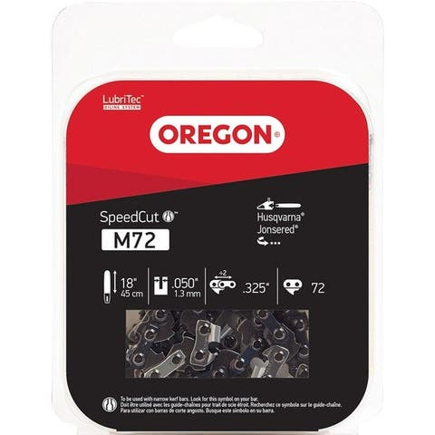 Oregon M72 SpeedCut Replacement Chainsaw Chain, 18""