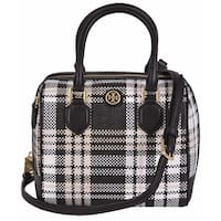 Tory Burch Plaid Mini Middy Convertible Satchel Purse Handbag
