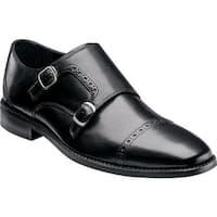 Florsheim Men's Castellano Monk Black Smooth Leather