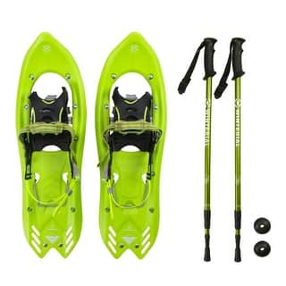 Winterial Men's Snowshoes and Poles / Green|https://ak1.ostkcdn.com/images/products/is/images/direct/f81a5db331b01e2ea51ac4579fa59d9abbfa9af1/Winterial-Men%27s-Snowshoes-and-Poles---Green.jpg?impolicy=medium