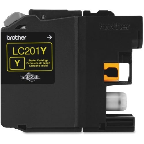 """Brother LC201Y Brother Innobella LC201Y Ink Cartridge - Yellow - Inkjet - Standard Yield - 260 Page - OEM"""