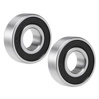 6202-2RS Deep Groove Ball Bearing 15x35x11mm Sealed Chrome Z4 Bearing 2pcs - 2 Pack - 6202-2RS (Z4 Lever)