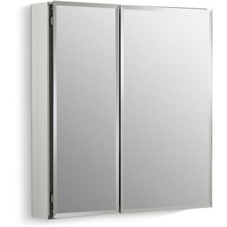 """Kohler K-CB-CLC2526FS 25"""" x 26"""" Double Door Reversible Hinge Frameless Mirrored Medicine Cabinet"""