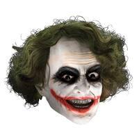 Child Joker Vinyl Mask W/ Hair Costume Accessories