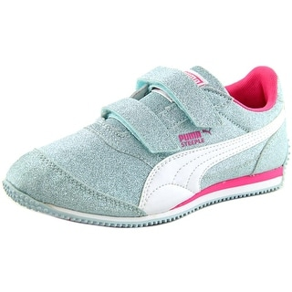 Puma Steeple Glitz AOG Toddler Round Toe Synthetic Silver Sneakers