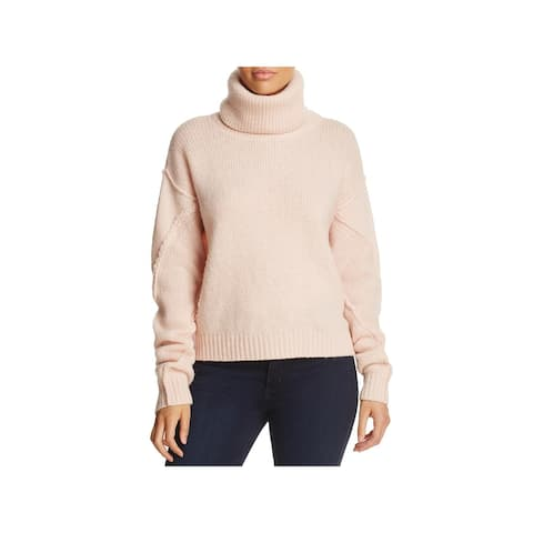 Tory Burch Womens Eva Turtleneck Sweater Wool Knit - S