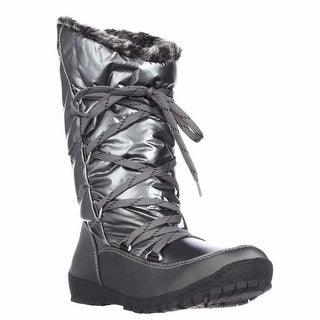 Sporto Charles Angled Calf Waterproof Winter Boots - Pewter