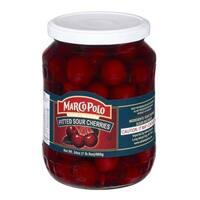Marco Polo Sour Pitt Cherries - Case of 12 - 24 oz.