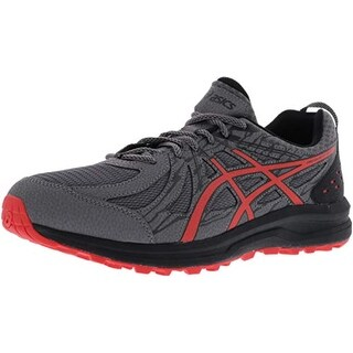 Asics 1011A034 Men's Frequent Trail Running Shoe, Carbon/Red Alert