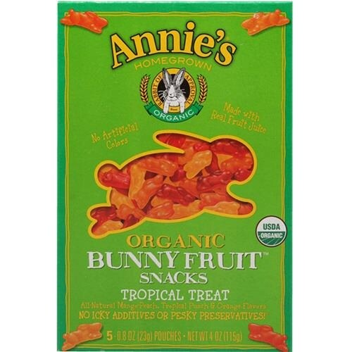 Annie's Homegrown - Organic Tropical Bunny Fruit Snacks ( 12 - 4 OZ)