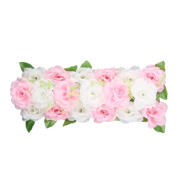 Wedding Party Fabric DIY Wall Arch Hanging Artificial Flower Garland Decor Pink White