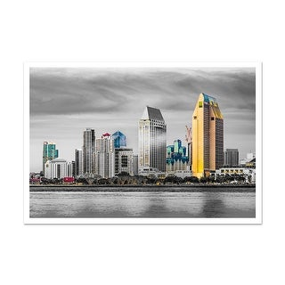 San Diego Touch of Color Skylines Matte Poster 36x24