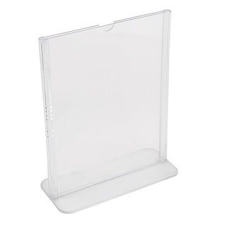 Unique Bargains Plastic Table Card Stand Holder Business Meeting Clear