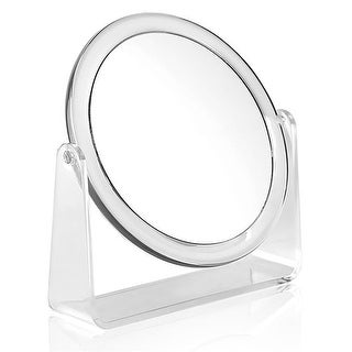 Karina 10X Round Dual-Sided Vanity Mirror, Clear - 6.25 in.