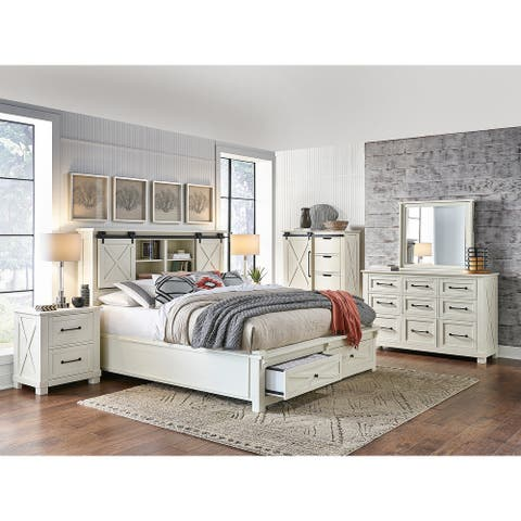Simply Solid Shanna Solid Wood Storage Platform Bed