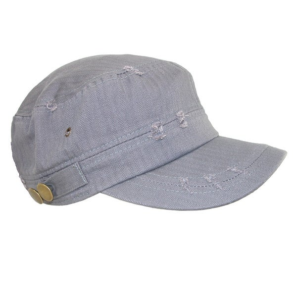 David & Young Women's Distressed Cotton Cadet Hat