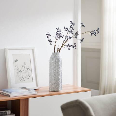 Chevron Chic Gray Vase