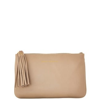Dooney & Bourke Lambskin Carrington Pouch (Introduced by Dooney & Bourke at $88 in Aug 2016) - Taupe