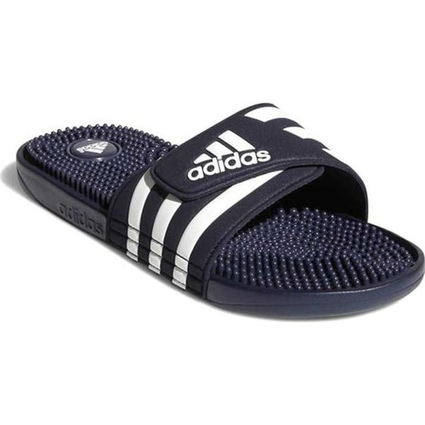 956835bcd1d9 Shop adidas adissage Navy White - On Sale - Free Shipping On Orders ...