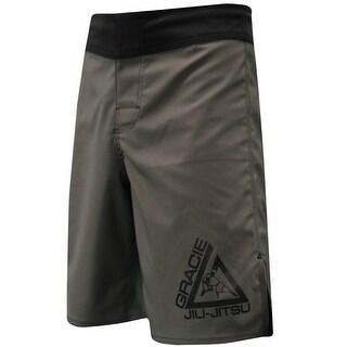 Gracie Jiu-Jitsu Undercover 2.0 MMA Fight Shorts - Gray