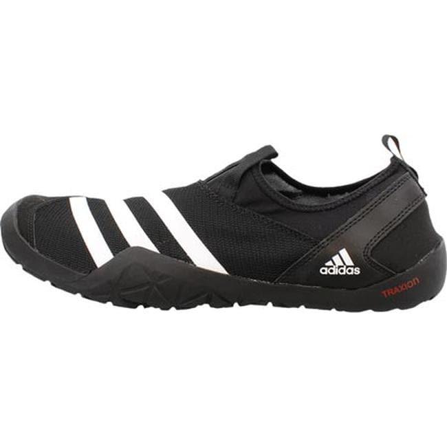 save off c8300 da279 adidas Men's Climacool Jawpaw Slip On Water Shoe Black/White/Silver Metallic