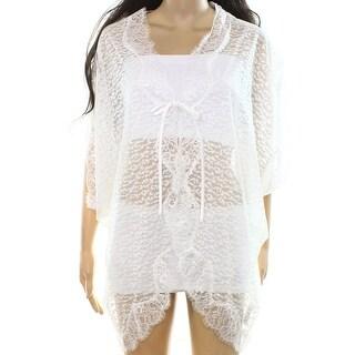 Betsey Johnson NEW Bright White Womens Size XS/S Lace Kimono Sleepwear