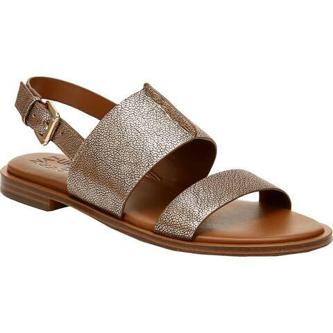 Naturalizer Womens Fairfax Slingback Sandals Leather Open Toe - Mocha Bronze - 10 Medium (B,M)