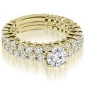 2.15 cttw. 14K Yellow Gold Classic Round Cut Basket Diamond Bridal Set - Thumbnail 0