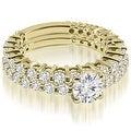 2.40 cttw. 14K Yellow Gold Classic Round Cut Basket Diamond Bridal Set - Thumbnail 0