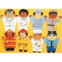 Dexter Educational Toys  Community 8 Piece Puppet Set - Caucasian