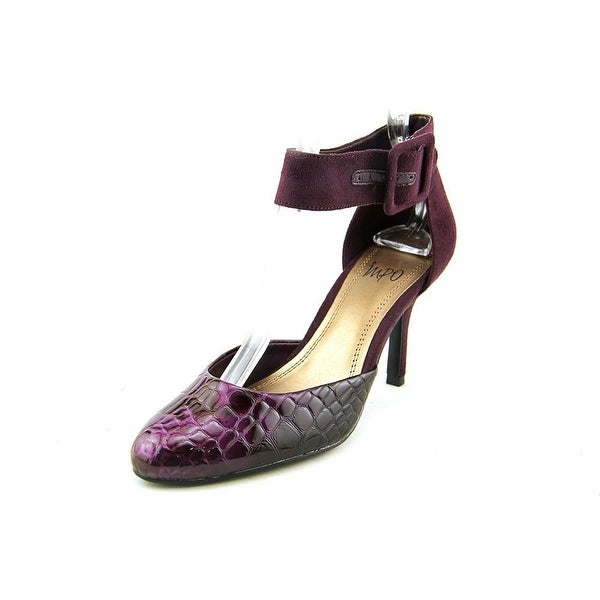 Impo Time Too Women Pointed Toe Canvas Purple Heels