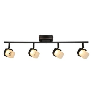 Link to Eglo Hogan Ridge 4-Light Oil Rubbed Bronze LED Semi-Flush Mount Track Lighting with Frosted Glass Similar Items in Track Lighting