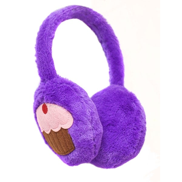 Beverly Hills Teddy Bear Co. Purple Plush Cupcake Earmuffs