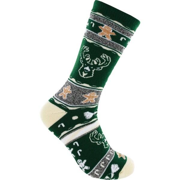Milwaukee Bucks Ugly Christmas Socks
