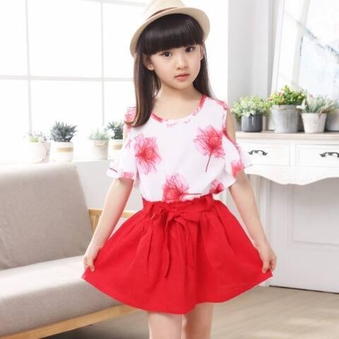 The New Girl Flowers Skirt Suit