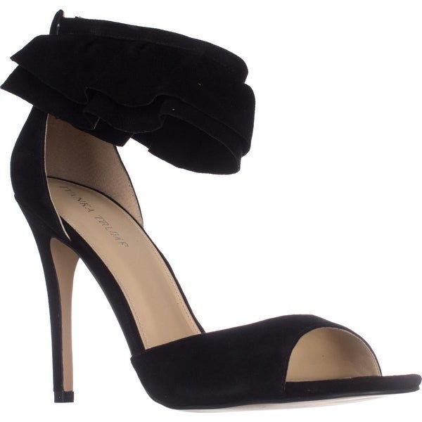 Ivanka Trump Herlle Ankle Strap Dress Sandals, Black Suede