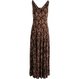 MICHAEL Michael Kors Womens Tank Dress Snake Print Maxi