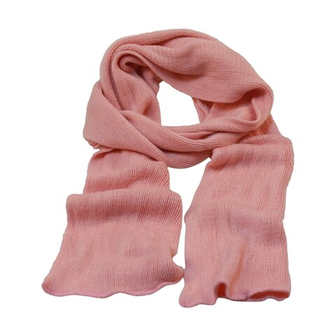 Unisex Fashion Acrylic Rectangle Style Simple Style Thick Scarves Pink