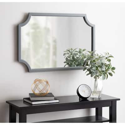 Kate and Laurel Hogan Scalloped Wood Framed Mirror