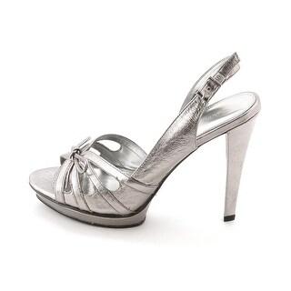 Calvin Klein Women's Peper Tumbled Metalc Ankle Strap Pump
