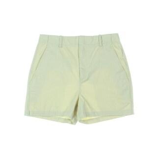 Vince Womens Casual Shorts Twill High Waist