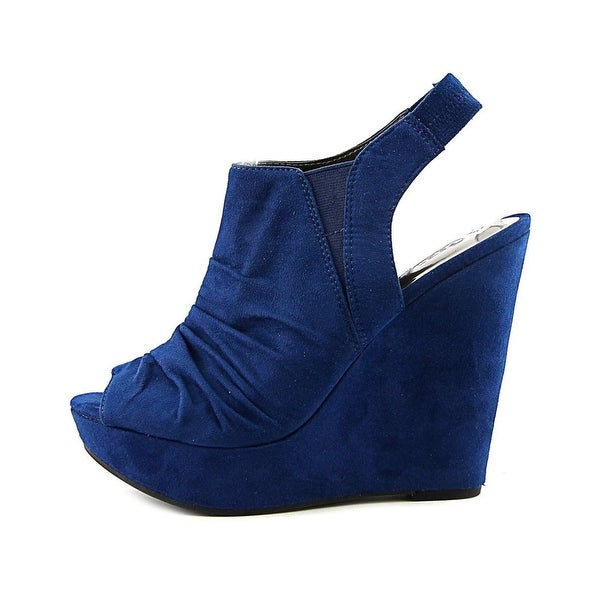 Carlos by Carlos Santana Womens Britton Fabric Peep Toe Casual Platform Sandals