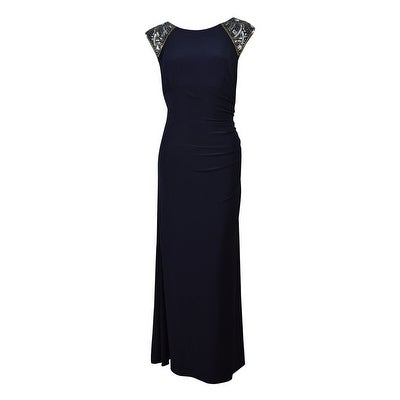 7676abeb Shop Xscape Women's Cap Sleeve Beaded Ruched Dress - Free Shipping On Orders  Over $45 - Overstock - 14812555