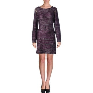 NY Collection Womens Sweaterdress Knit Zipper