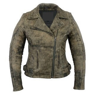 Women's Updated Stylish Antique Brown Motorcycle Jacket