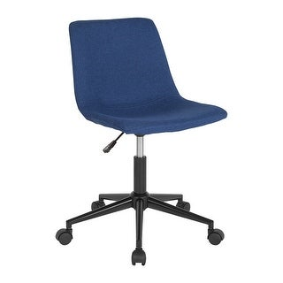 Offex Home and Office Contemporary Ergonomic Task Chair in Blue Fabric