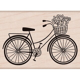 """Hero Arts Mounted Rubber Stamp 2.75""""X2""""-Bicycle"""